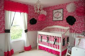 Curtains For Girls Nursery by Beautiful Red Nursery Decor That Can Be Decor With White Bed