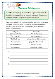 grade 3 grammar topic 35 sentence building worksheets lets