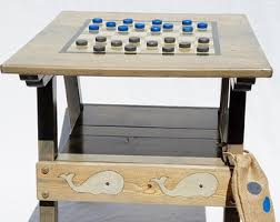 reclaimed wood game table chess backgammon checkers table outdoor game