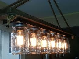 Hanging Edison Bulb Chandelier Mason Jar 6 Light Edison Hanging Lamp Bulbs Lights And Mason