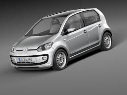 volkswagen up white up city car 3ds