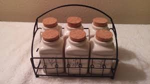 rae dunn by magenta herb jars wire caddy what u0027s it worth