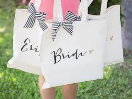 amazon com bridal party wedding tote bags bags for bride and