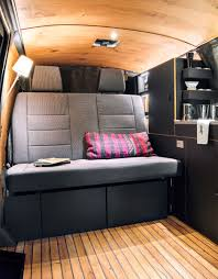 volkswagen california interior nils holger moormann designs minimal interior for vw bus