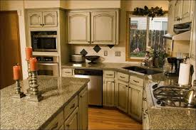 kitchen white glazed kitchen cabinets distressed wood cabinets