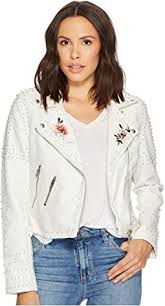 Blank Nyc Patchwork - blank nyc patchwork vegan leather moto jacket in mix and