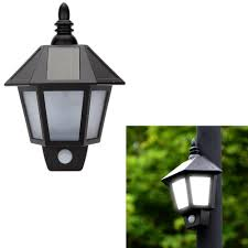 Outdoor Wall Sconce With Motion Sensor Amazon Com 2 Pack Easternstar Led Solar Wall Light Outdoor Solar