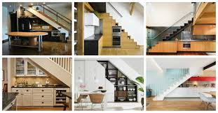 Space Saving Ideas Kitchen Trendy Idea Kitchen Design Under Stairs 19 Space On Home Ideas