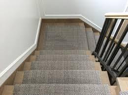 Sisal Stair Runner by Cavalcanti Stair Runner In Herringbone Design Flatwoven With Pure