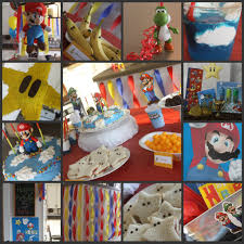mario birthday party complete with mario themed food and games a