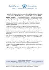 bureau de coordination des affaires humanitaires r d congo le coordonnateur humanitaire mamadou diallo débloque