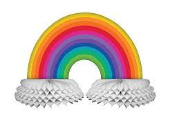 Rainbow Centerpiece Ideas by 24 Best Rainbow Party Supplies Images On Pinterest Rainbow