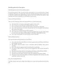 remarkable receptionist duties for resume with sample resume hotel