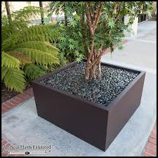 10 artificial japanese maple tree in modern fiberglass planter
