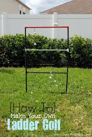 How To Make A Golf Green In Your Backyard by Title U003e How To Make Your Own Ladder Golf Game U003c Title U003e Sew Woodsy
