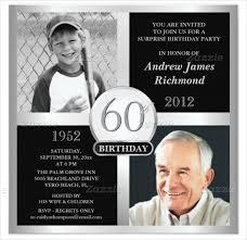 22 60th birthday invitation templates u2013 free sample example