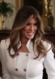 Beautiful Appearance Melania Trump Makes Her First Official Appearance