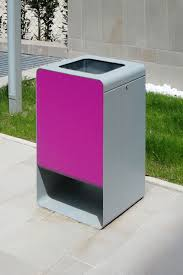 smith waste bin by lab23 gibillero design collection outdoor steel