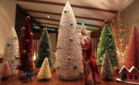 Retro Christmas Lights by Vintage Aluminum Christmas Trees Make The Holidays Bright In