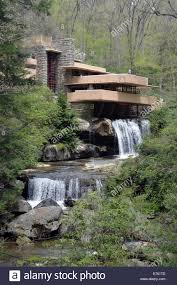 a view of the famous u0027fallingwater u0027 mansion by the late us