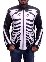 mens leather moto jacket men u0027s skeleton sketch black motorcycle jacket ideal jackets