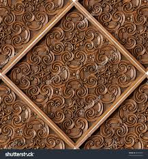 stock photo wood thai pattern handmade wood carvings chiangmai