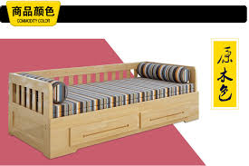 meters of solid wood sofa bed dual sliding double folding bed