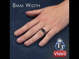 matching tungsten rings piatto flat wedding bands sizes 4mm