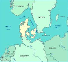 map of germany and surrounding countries with cities map of denmark