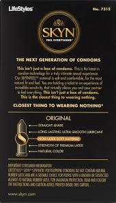 lifestyles skyn original lubricated non latex condoms 12 ct