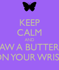 keep calm and draw a butterfly on your wrist poster emily keep