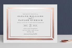 gold foil wedding invitations brushed border foil pressed wedding invitations by carolyn
