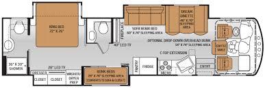 Coachmen Class C Motorhome Floor Plans Rv Floor Plans With Bunk Beds Motorhomes With Bunk Beds 34 3