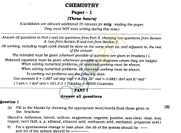 isc class xii exam question papers 2012 chemistry aglasem schools