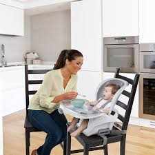 Day Care High Chairs Amazon Com Ingenuity Smartclean Trio 3 In 1 High Chair Slate Baby
