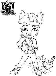 monster high clawdeen wolf coloring pages 110 best we are monster high images on pinterest monster high