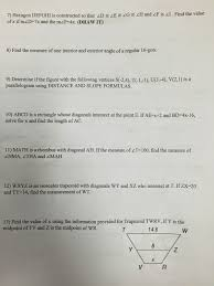 honors geometry vintage high chapter 6 quadrilaterals