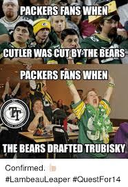 Bears Packers Meme - packers fans when acutlerwascut by the bears packers fans when the