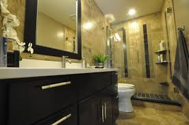Beige And Black Bathroom Ideas by Bathroom Creamy Tone Bathroom With Beige Tile Floor And