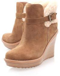 lyst ugg uptown emalie leather wedge boots in black lyst shop s ugg wedges from 90 page 8