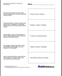 morning math worksheets th grade for graders worksheet main idea