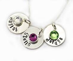 mothers necklace with kids birthstones necklace with birthstones personalized sted