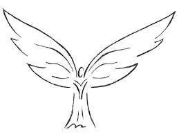 triball angel design tattoo
