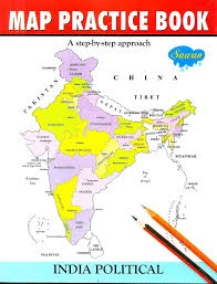 Maharashtra Map Blank by Map Practice Book India Poltical Buy Map Practice Book India