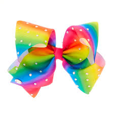 hair bow tie jojo siwa signature large rainbow hair bow s