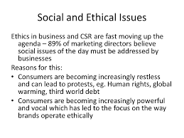 ethical issues in marketing section how are people influenced at work topics environmental