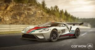 martini livery that was fast ford gt rendered in martini and gulf livery