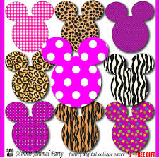 minnie clipart animal print minnie mouse birthday invitation