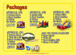 party rentals miami bounce4kids party rental miami special packages