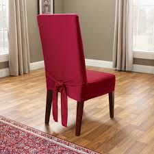 Cotton Dining Chair Covers with Dining Room Scroll Back Parson Chair Slipcovers With Parsons